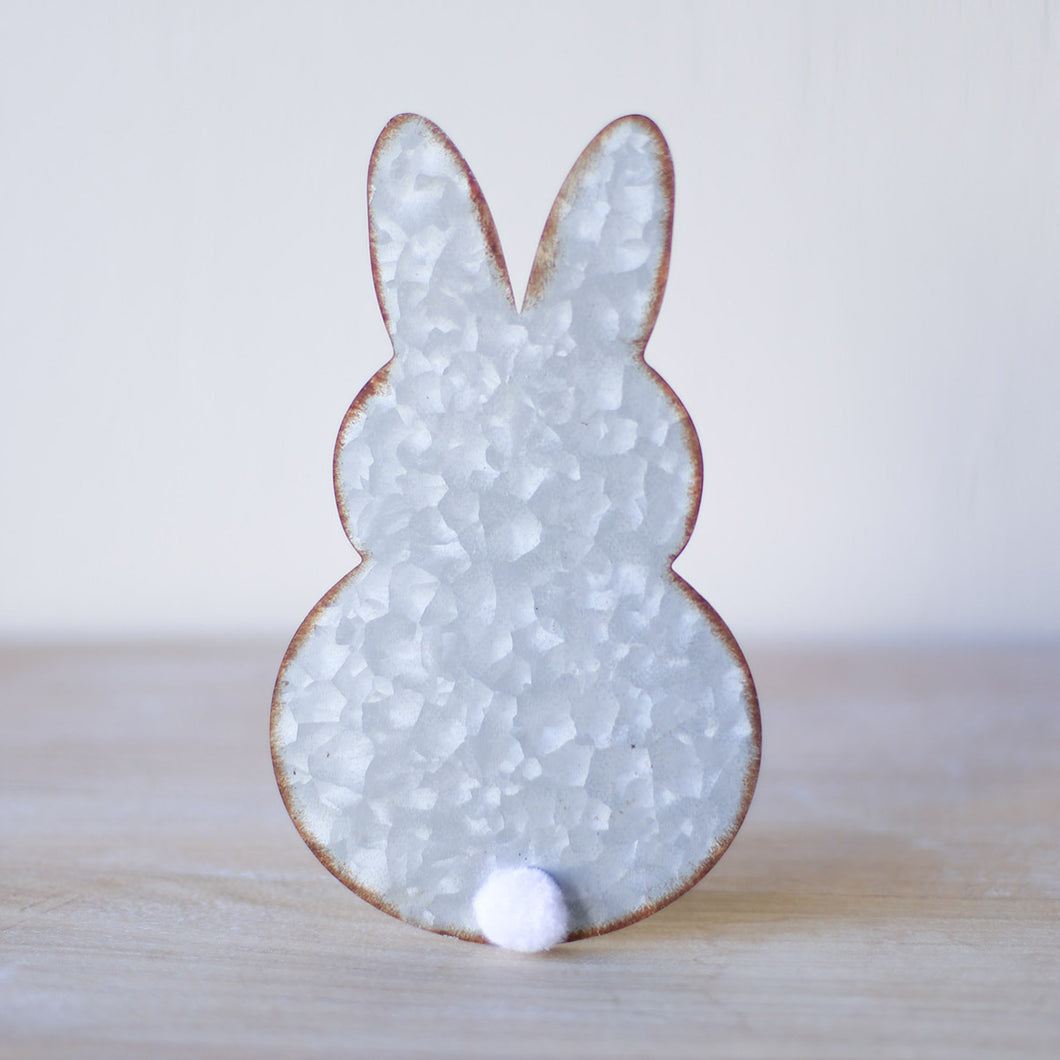 Antique Silver Cottontail Bunny