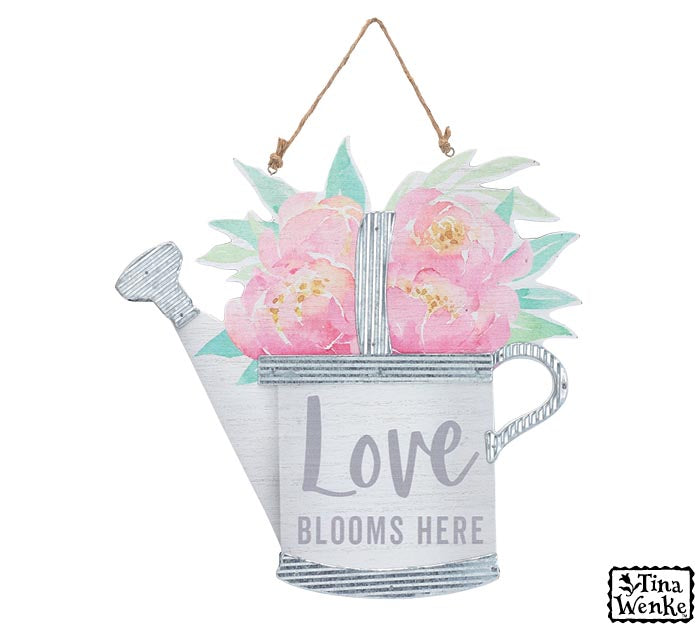 Love Blooms Here Wall Hanging