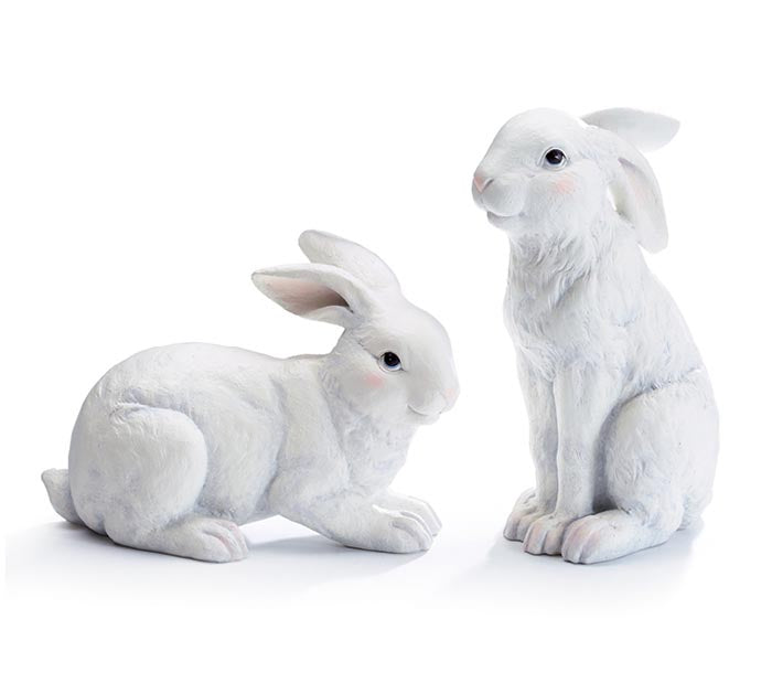 White Rabbit Figurine Set