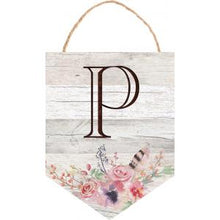 Load image into Gallery viewer, Floral Hanging Sign