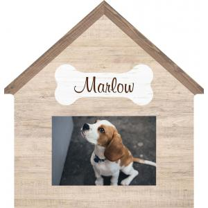 Dog House Photo Frame Engravable
