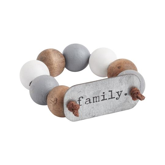 Family Wood Bead Napkin Rings