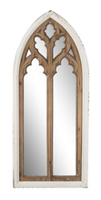 Load image into Gallery viewer, Distressed White with Natural Arch Overlay Wall Mirror