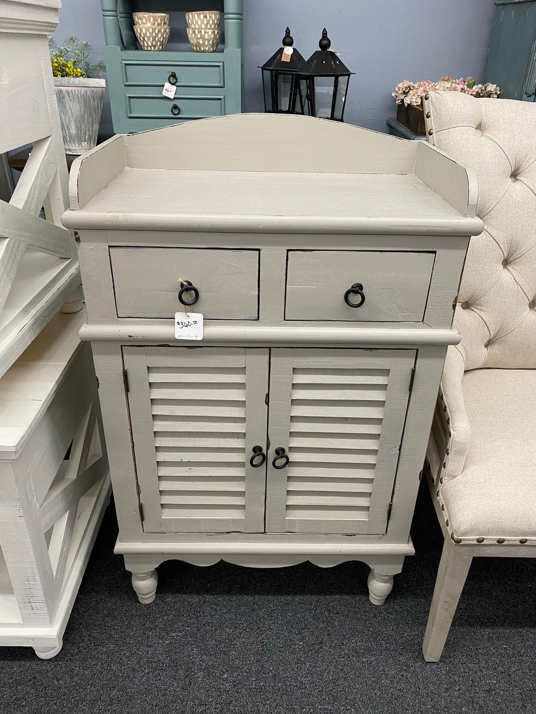 ACC 107 Cabinet With Shutter Doors and 2 Drawers