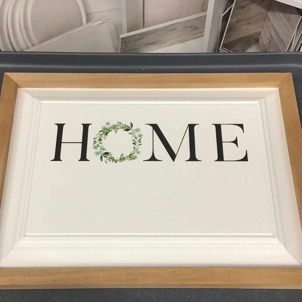 Home Framed Wall Sign Engraveable