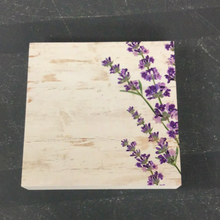 Load image into Gallery viewer, Floral Small Sign with Purple Flowers