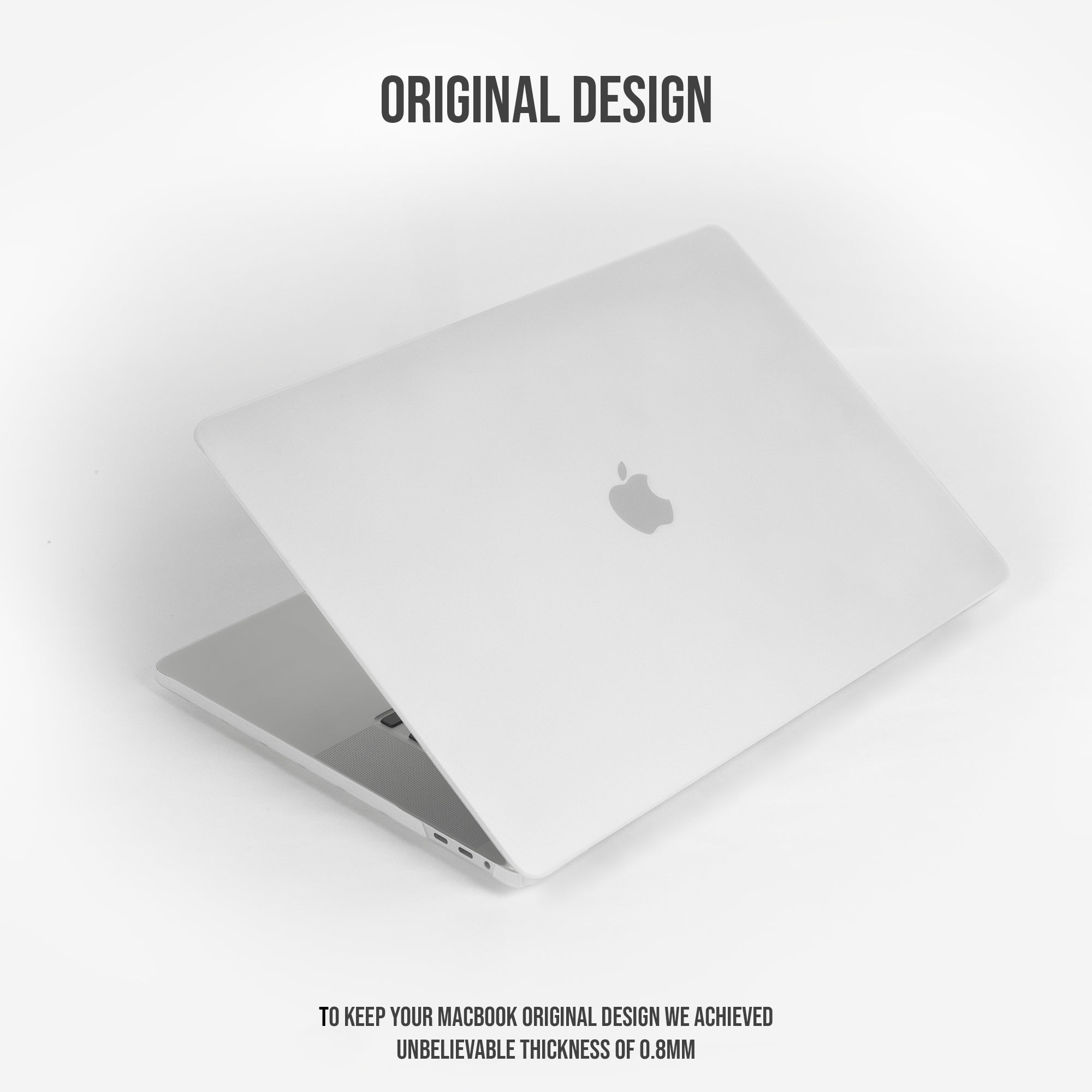 0.8mm Ultra Flex [Crack Resistant] Minimal Cover for MacBook  by JoyMax Products™ - [Foggy White]
