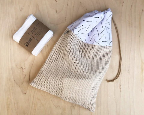 Cotton Wash Bag | Pins