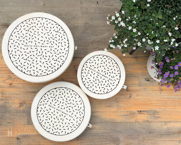 Set of 3 Eco Food Bowl Covers