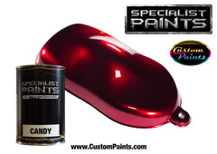 Candy Deep Red over Silver Metallic Base