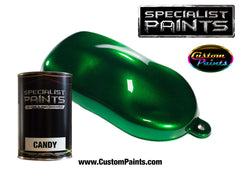 Candy Emerald Green over Silver Metallic Base