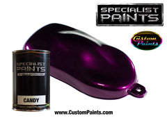 Purple Candy over Silver Metallic Base