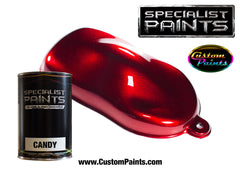 Candy Ruby Red over Metallic Silver Base