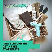 Load image into Gallery viewer, The Collective Crate. Your monthly Craft DIY subscription delivered right to your door. Subscribe and get a FREE starter kit!