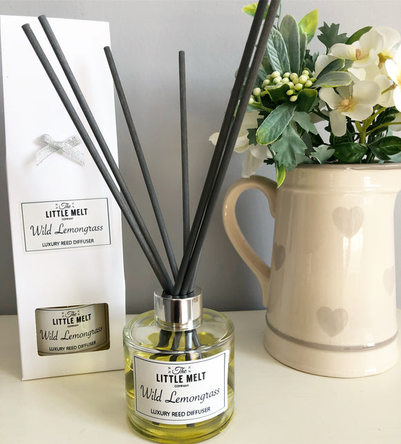 Wild Lemongrass Luxury Reed Diffuser