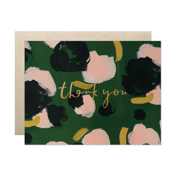 Camelia Thank You Card
