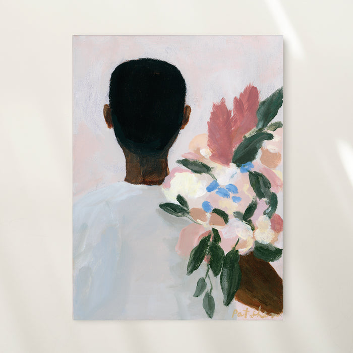 SOLD - A Man And His Flowers