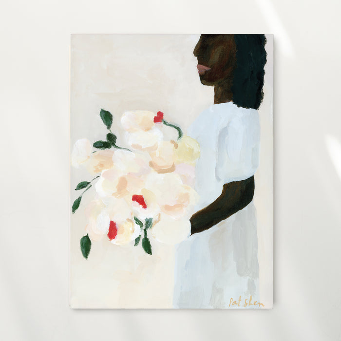 A Woman And Her Flowers Limited Edition Art Print