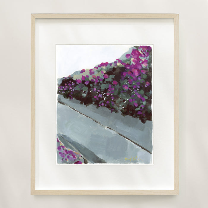 City Bougainvillea Limited Edition Art Print