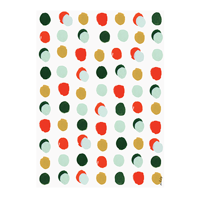 Dotted Holiday Gift Wrap
