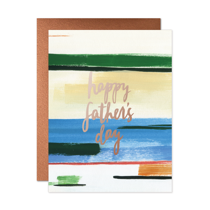 Happy Father's Day Stripes Card