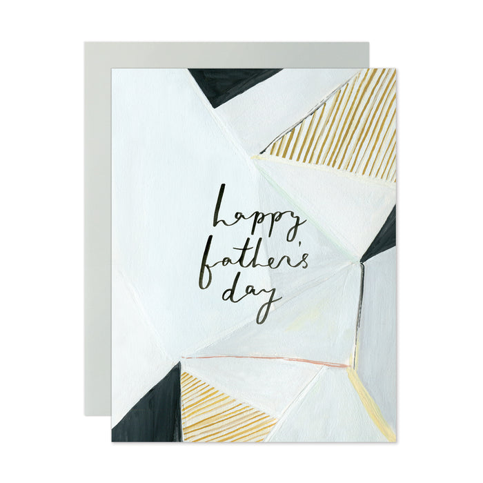 Happy Father's Day Geometric Card