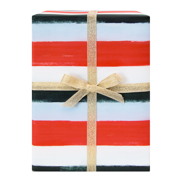 Holiday Stripes Gift Wrap