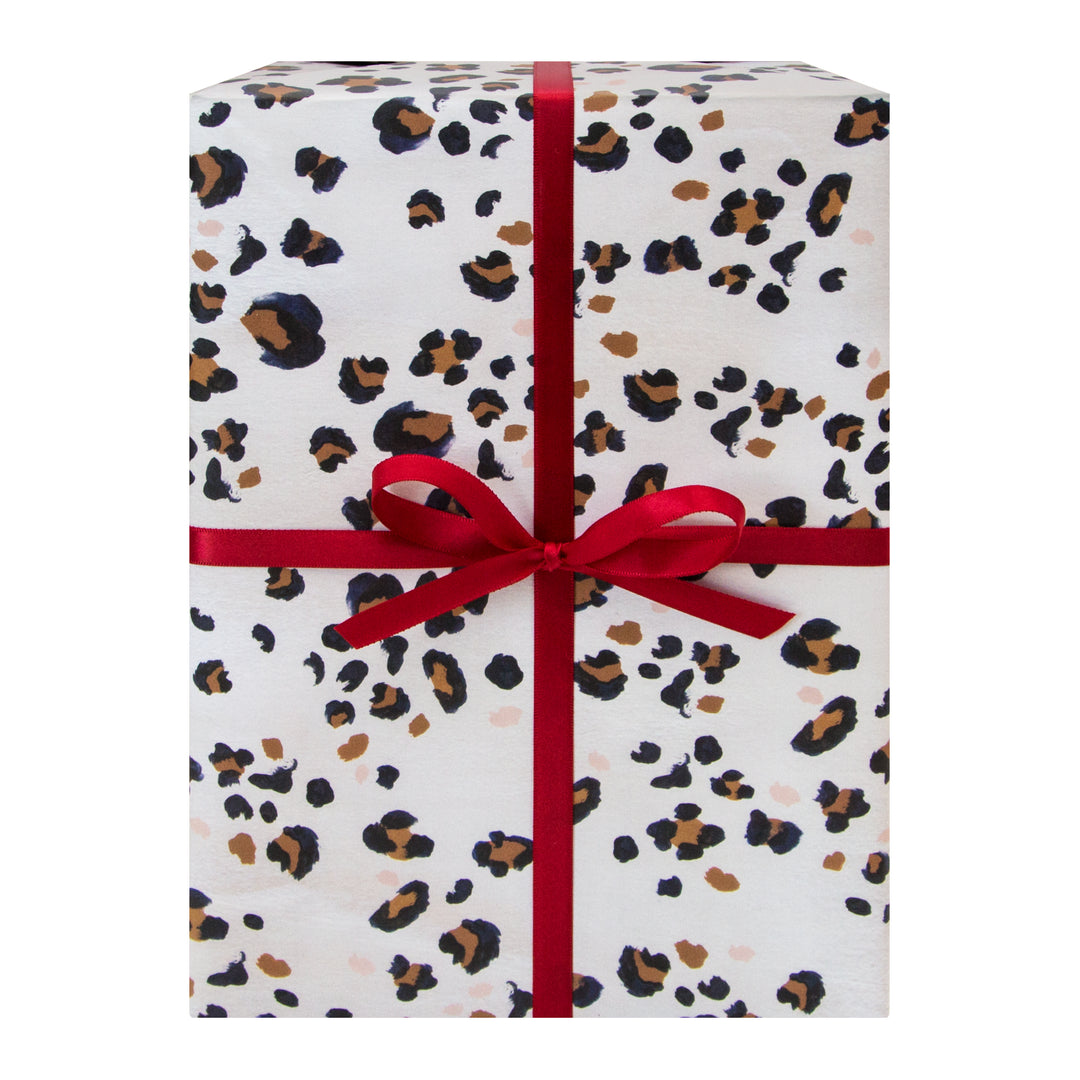 An abstract leopard pattern to add a sophisticated touch to any gift.