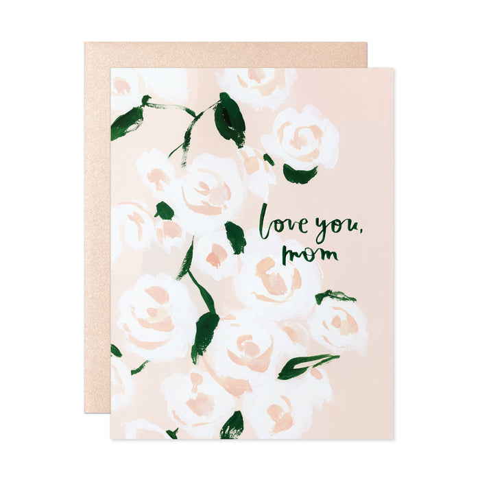 Love You Mom Roses Card