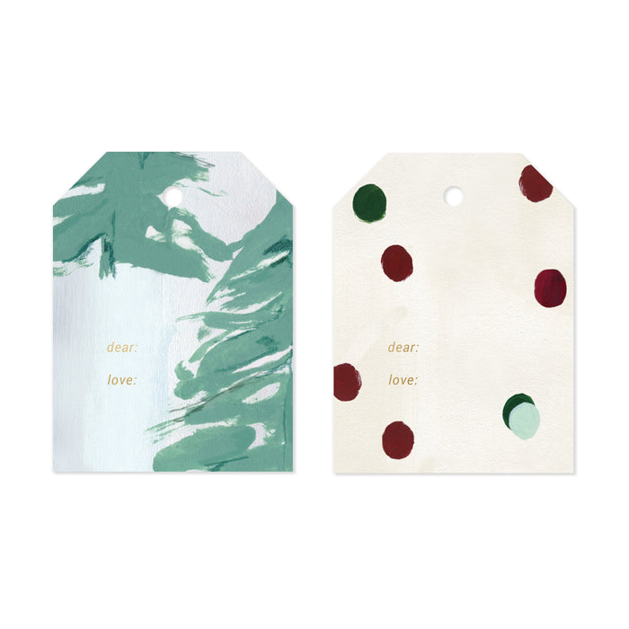 Modern Holiday Gift Tag Set