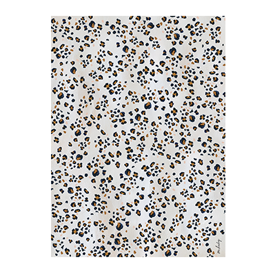 Navy Leopard Wrapping Paper