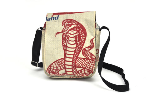 Shoulder bag - Long flap - Cobra design