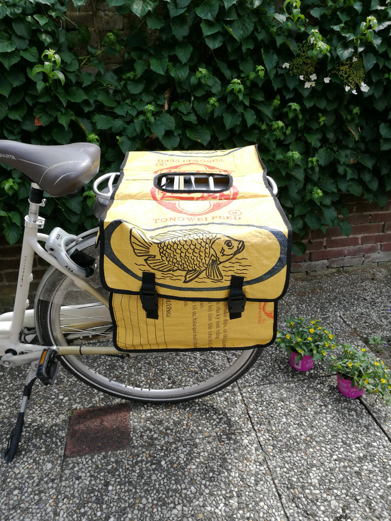 Bicycle bag - Yellow Fish