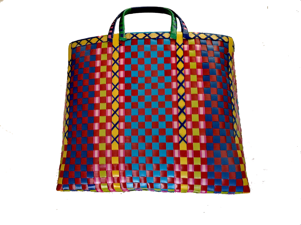 Burmese shopper - Blue/Red