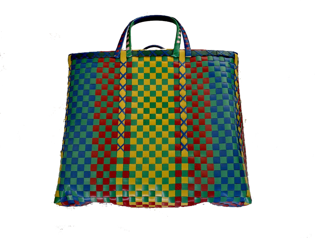 Burmese shopper - Green/Yellow