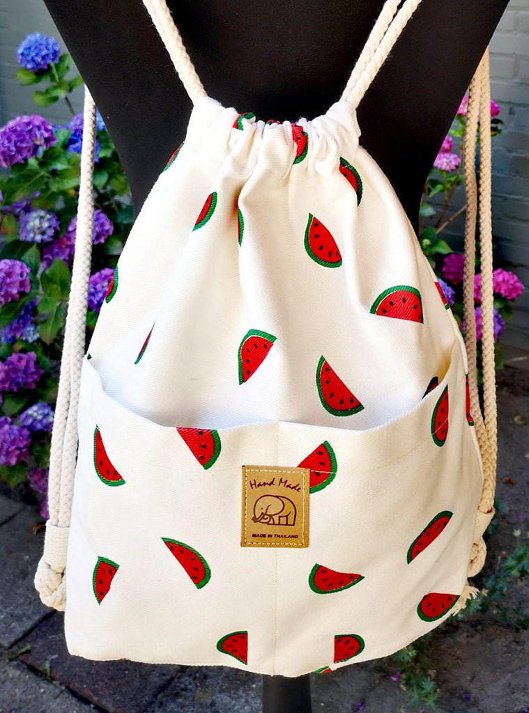 Fruit design collection - String  rucksack - Water melon