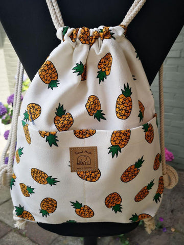 Fruit design collection - String  rucksack - Pineapple