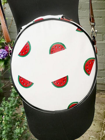 Fruit design collection - round shoulder bag - Watermelon