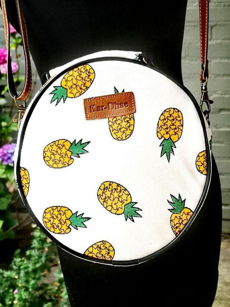 Fruit design collection - round shoulder bag - Pineapple