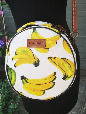 Fruit design collection - round shoulder bag - Banana