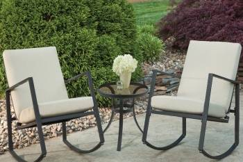 Aurora 3 Piece Cushion Seating Set Neutral