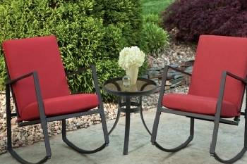 Aurora 3 Piece Cushion Seating Set Red