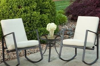 Aurora 3 Piece Cushion Seating Set Tan