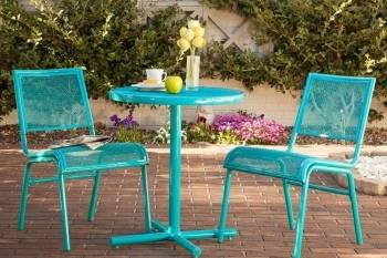 Bixby 3pc Bistro Set Blue