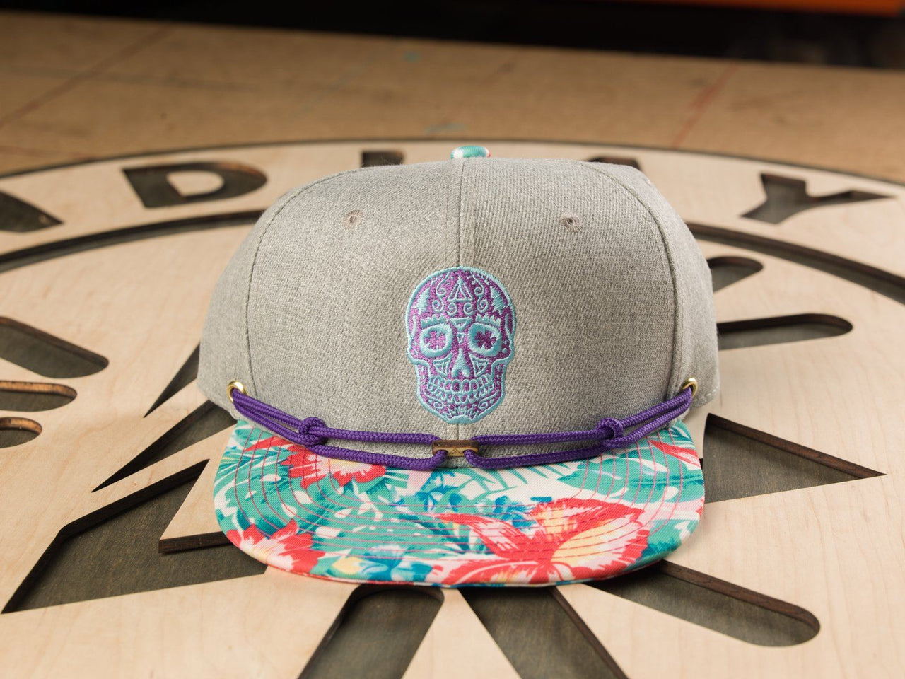 Sneaky Sugar Skull - Purple / Neon Blue (1 of 1) Limited Edition Hats Findlay Hats