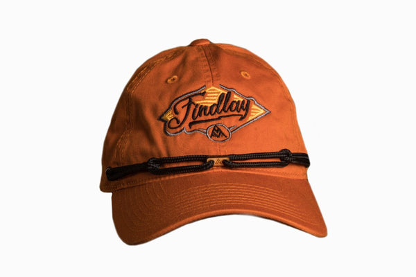 Orange Rider Dad Hat Findlay Hats