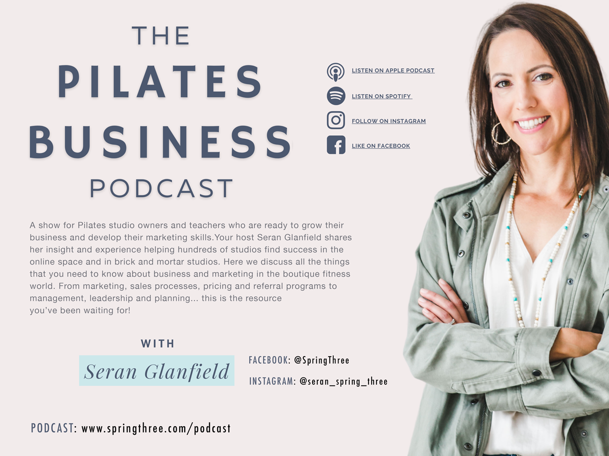 The Pilates Business Podcast Banner