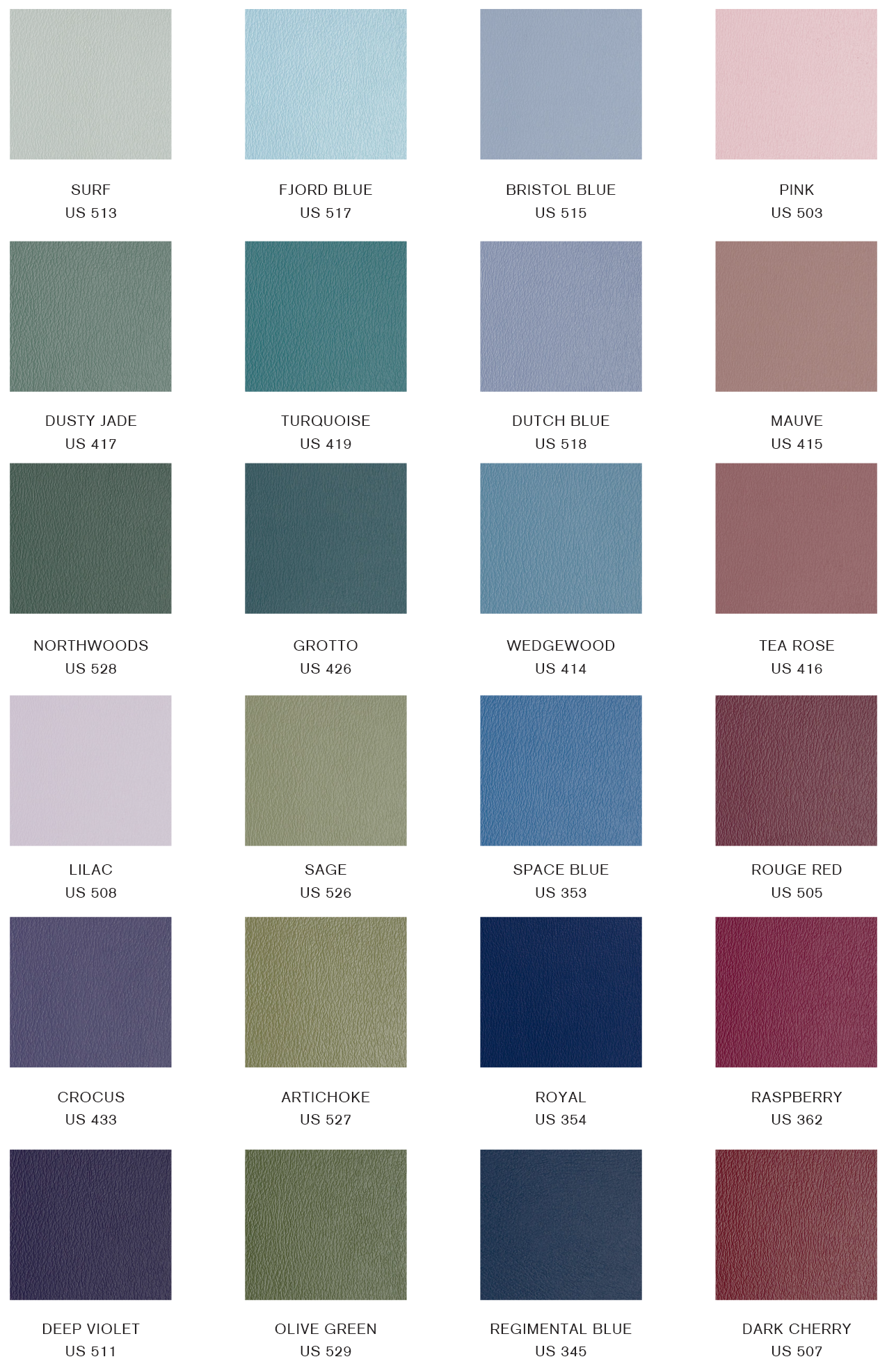 Upholstery swatch chart gratz pilates industries download swatch chart nvjuhfo Image collections