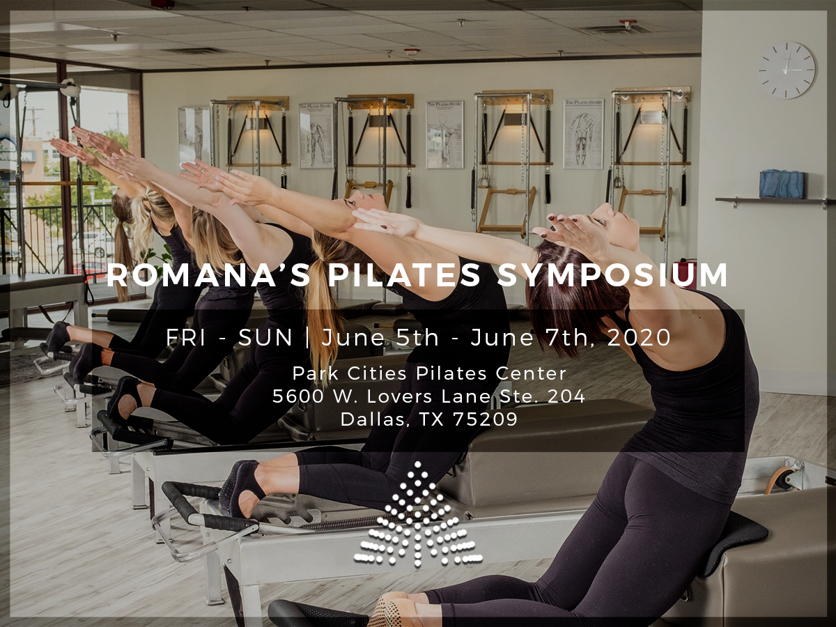 ROMANA'S PILATES SYMPOSIUM DALLAS 2020 BANNER