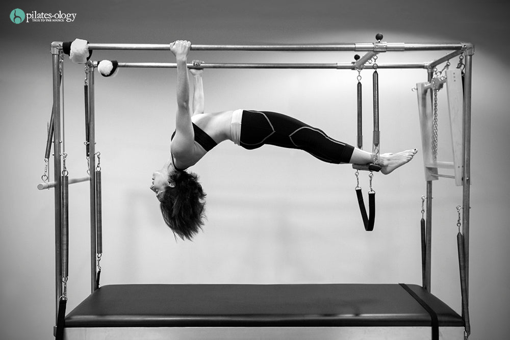 Gratz Gallery | Andrea Maida performing the Hanging Pull Ups exercise on the Cadillac